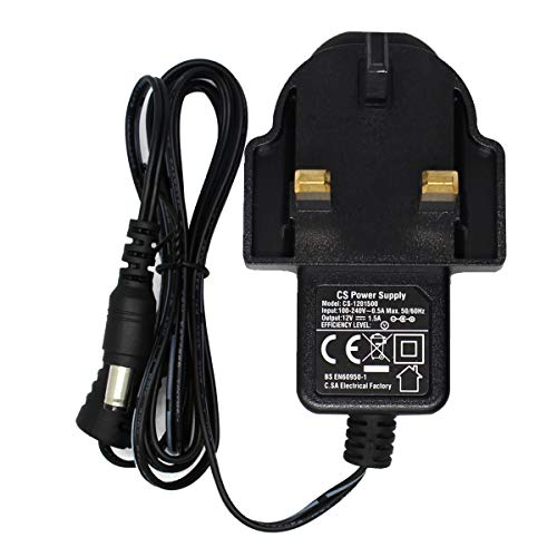 Price comparison product image AC 100-240V to DC 12V 1.5A Power Adapter Supply Plug UK 5.5mm x 2.1mm for CCTV Cameras DVR NVR LED Light Strip CE BS