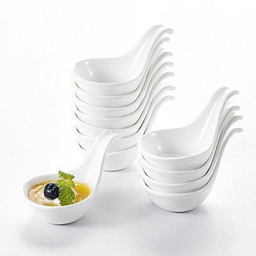 """Malacasa, Serie Ramekin.Dish, 12er 3,75""""/9,5cm SUPER MINI Dessertschale Set Porzellan Snackschale Dessert Snack Vorspeise Nachtisch Schälchen Dekoschale"""