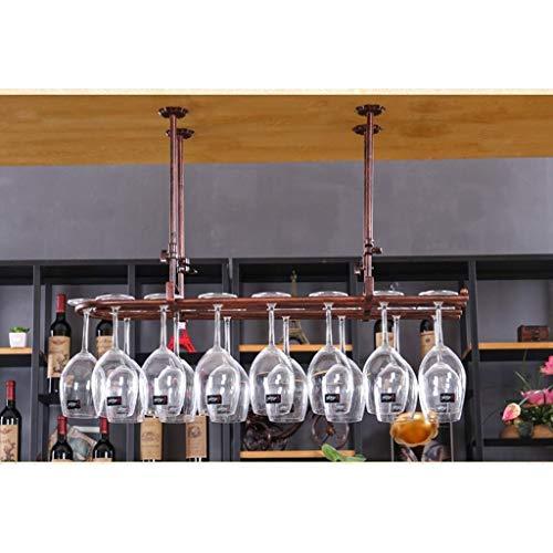 Becherhalter Hoher Getränkehalter/umgedrehter Weinbecherhalter/hängender Getränkehalter/hängender hoher Getränkehalter Kreatives Weinregal (Size : 80 * 25cm)