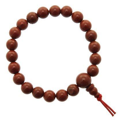 Braccialetto di perle di diaspro rosso