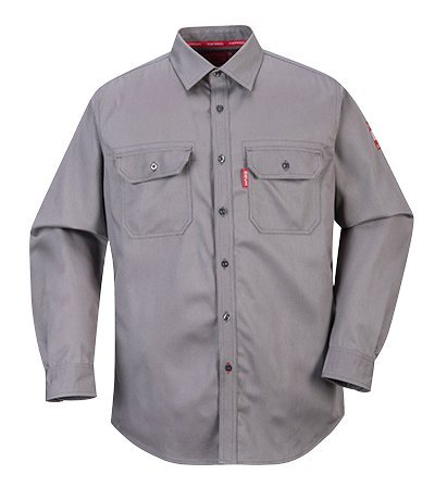 Preisvergleich Produktbild Portwest fr89grrl Bizflame Shirt, Regular, Größe: groß, grau