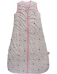 Schlummersack Winter Babyschlafsack Mädchen 3.5 Tog - Elefanten Pink/Grau - erhältlich in verschiedenen Größen: von Geburt bis 6 Jahre