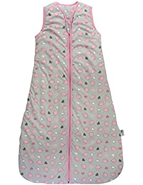 Schlummersack Winter Babyschlafsack Mädchen 3.5 Tog - Elefanten Pink/Grau - erhältlich in verschiedenen Größen...
