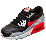 Nike Herren AIR MAX 90 LTR (GS) Fitnessschuhe, Mehrfarbig (Wolf Grey/Bright Crimson/Black/White 024), 39 EU