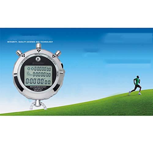 DYHOZZ Cronómetro Metal 10 Canales Memoria Árbitro