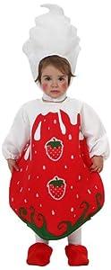 Atosa-10447 Disfraz Fresa, color rojo, 12 a 24 meses (10447)