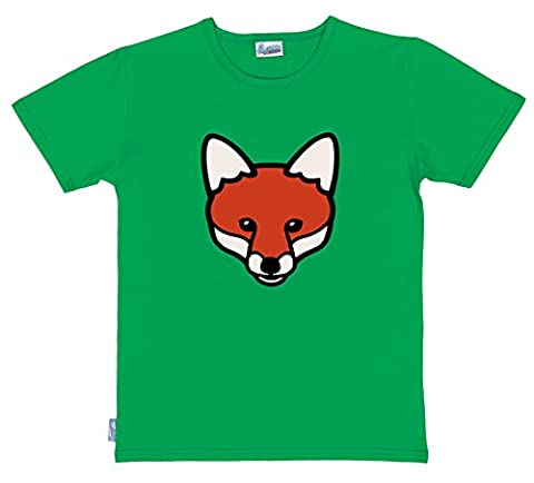 Organic Cotton Adults Fox T-Shirt | Large | Green | By Paw Prints