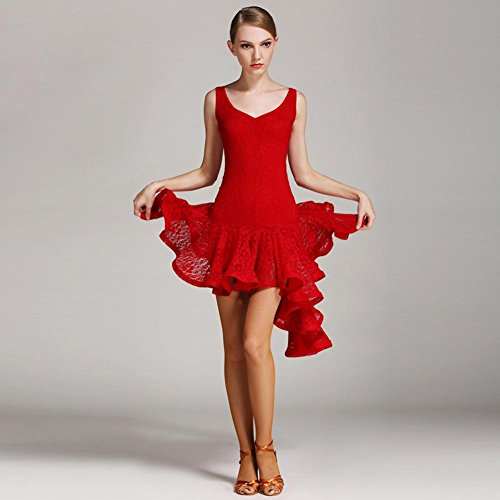 Schnüren Lateinisches Tanz-Kleid Kostüm Latein Tanzen Trainieren Kleidung Frauen Performance ()