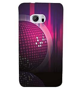 YuBingo HTC 10 :: HTC One M10 Designer Phone Back Case Cover ( Disco Background )