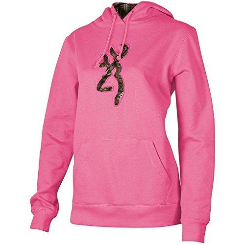 Women's Browning Camo Buckmark Hooded Sweatshirt, Fuchsia, S Browning-camo Sweatshirt