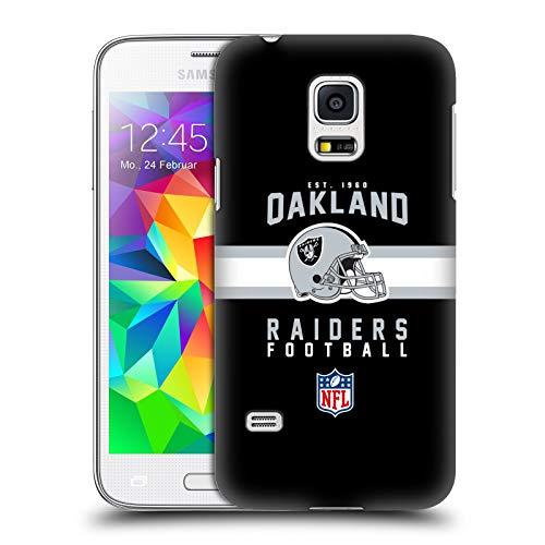 fizielle NFL Helm-Buchdruckerkunst 2018/19 Oakland Raiders Harte Rueckseiten Huelle kompatibel mit Samsung Galaxy S5 Mini ()