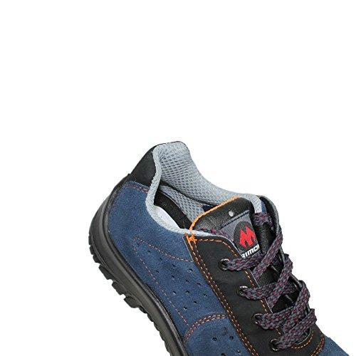 Aimont S1 SRC Sicherheitsschuhe Arbeitsschuhe Berufsschuhe flach B-Ware Blau