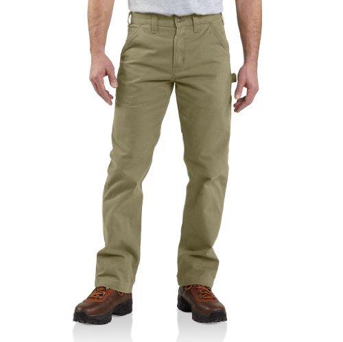 Carhartt Arbeitshose für Herren aus Twill, legere Passform Gr. 32 W/30 L, dunkles kaki
