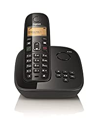 Gigaset A495 Black Cordless Landline Phone with Answering Machine