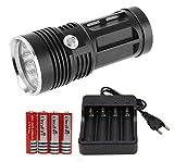 Torcia Led CONCEPT 1 Quad-LED Kit X-power 4x 18650 Ultrafire 4200 mA/h + caricabatterie 4 slot