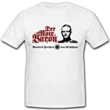 El Barón Rojo Manfred Freiherr von Richthofen Caza Planeador WK 1Primera Guerra Mundial–Camiseta # 6804
