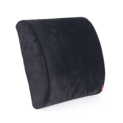 Tanyoo Soft Memory Foam Comfortable & Supportive Lumbar Pillow, Orthopedic Design To Relieve Back Pain & Improve your Posture, Ideal for Cars/Office/Home/Wheelchair, Black Color