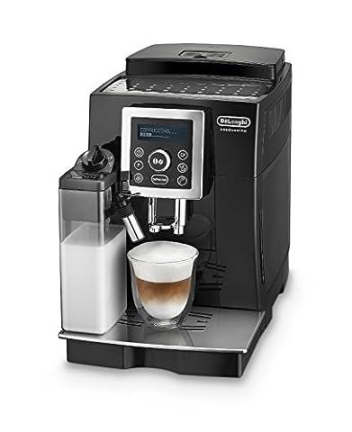 De'Longhi ECAM 23.466.B Kaffeevollautomat (Digitaldisplay, integriertes Milchsystem, Cappuccino auf Knopfdruck, Herausnehmbare Brühgruppe, 2-Tassen-Funktion) schwarz