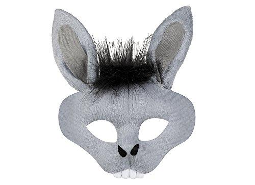 Fancy Ole - Kostüm Halbmaske Esel Gesicht, (Kostüm Kinderschminken Hund Für)