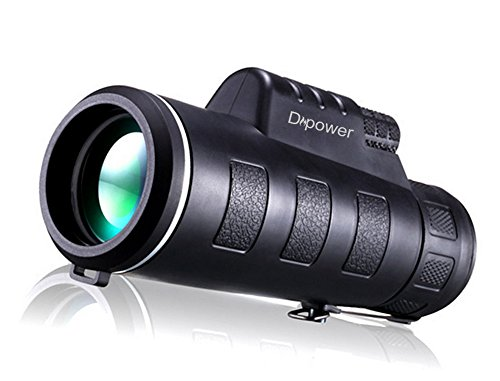 Monocular telescopio para niveles bajos de luz de visión nocturna (10x42HD) de Dreampower: con prisma óptico completo, doble ajuste del enfoque, resistente al agua, apto para la observación de aves y fauna salvaje, para exteriores, conciertos, espectáculos deportivos, turismo y escalada