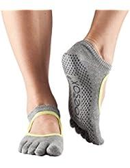 Toesox Bellarina Paire de chaussettes antidérapantes protégeant les orteils pour le sport et la danse Idéal pour le yoga, pilates et fitness