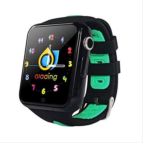 GYFKK Intelligente Uhr Smartwatch Stand-Alone-Karte Anruf GPS Positionierung 1,54 Zoll Touchscreen Wasserdicht Unterstützung Multi-chinesische Wörter Mehrländerschwarz und Grün