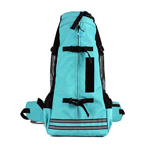 FLKENNEL Hunderucksack, Haustier-Tragetasche mit atmungsaktivem Head-Out-Design, Sicherheitsmerkmalen und Rückenpolster | für Reisen, Wanderabenteuer, Camping im Freien,Green,M