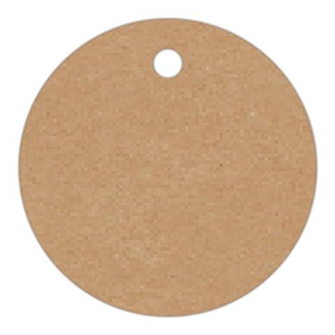 Anhänge-Etiketten AC-29-500 - 30 mm rund - braun-natur (11) - Fein-Karton 210g/m² - Lochstanzung 3 mm - 500 Stück