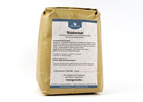 Weiden-Rinde grob geschnitten in sehr hochwertiger Qualität, frei von jeglichen Zusätzen, als Tee oder für Pferde (Salicis cortex) – 1000 g (Rinde Frei)