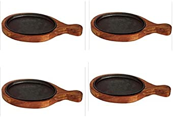 """Sizzler Bat Wooden Oval Sizzler with Handle/Racket 15"""" 7"""",4 piece"""