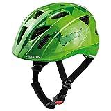 Alpina Jungen XIMO Flash Fahrradhelm, Green Dino, 47-51 cm