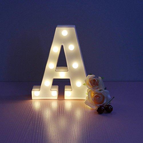 Lumières De Lettre Alphabet, EONANT Lettres Décoratives à Piles LED Lettre  Alphabet Su0027allume