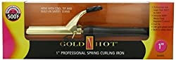 Gold N Hot Professional Spring-Grip Curling Iron, 1 Inch