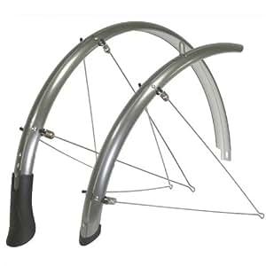 Vavert Garde-boue fixe pour pneu taille 45mm 700x 32–40C Gris acier–£ 25.19