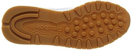 Reebok Damen Classic Leather Sneakers Weiß (Int-White/Gum)