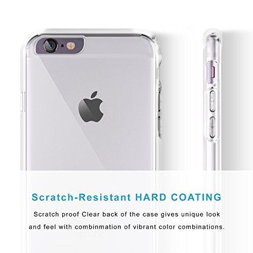 iCASEIT Schutzhülle für iPhone 6 / 6S | Hybrid-Stil EverClear Bumper Case [AIR CUSHION] Klar Zurück | Langlebig, Super stark, Rutschfest, Auffangen Eckstoß & Premium-Ausführung | GRAU CLEAR