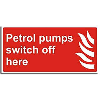 Fire Safety Sign - Petrol Pump Switch Off Sign - Adhesive Vinyl - 400x200mm(FI-012-AP)