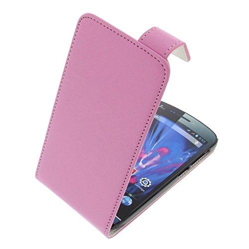 foto-kontor Tasche für Wiko Wax Wax 4G Flipstyle Schutz Hülle Handytasche pink