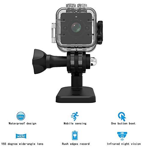 QLPP Digitale Unterwasserkamera 12MP 1080P Video mit 155 Grad Ultra Wide Angle Lens und 30M Wasserdiass-Support 32G SD-Karte für das Schnorcheln von Wasserdichten-Punkt -