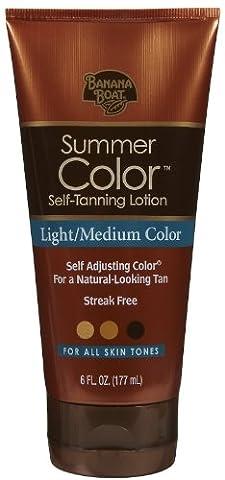 Banana Boat Summer Color Self-Tanning Lotion Light Medium Color