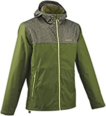 Quechua Men's NH 100 Waterproof Nature Hiking Jacket - Leaf Green