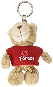 NICI n15845-Llavero Oso con Camiseta Teresa, Rojo