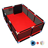 XSJ-Playpens Playpen Tent Kids Safety Play Area Gate Children's Fence Ball Pit Toddler Guardrail Crawling Mat with 100 Balls Included (Height:66cm)