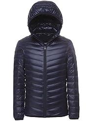Chaqueta de pluma de Invierno plumífero para hombres Hombres traje de plumón Compresible abrigo