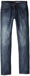 IZOD Mens Big & Tall Relaxed Fit Jean, Patriot Blue, 44x36