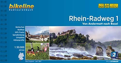 Rhein-Radweg 1: Andermatt - Basel GPS-Tracks-Download, wetterfest/reißfest (Bikeline Radtourenbücher)