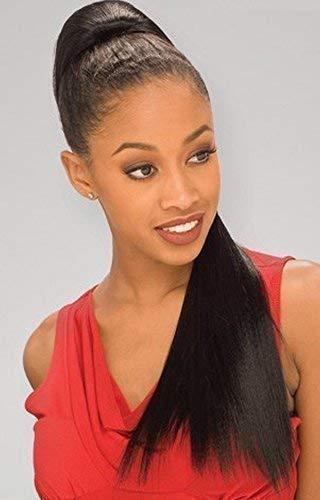 FreeTress Yaky Straight Postiches ponytail 22in (55cm long) - 1B