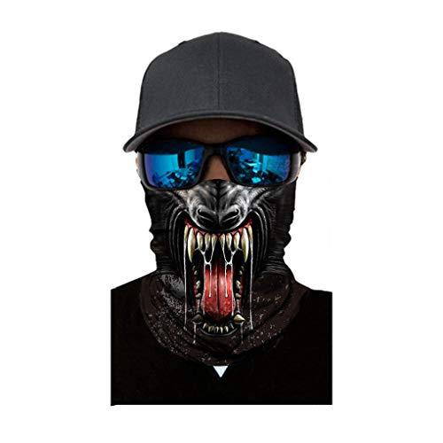 Skxinn Halstuch Face Shield Gesichtsmaske/Damen Herren Gesichtsmaske Winter Winddicht Radfahren Ski Snowboard Motorrad Balaclavas für Outdoor-Sportaktivitäten Halloween Verschiedene Muster