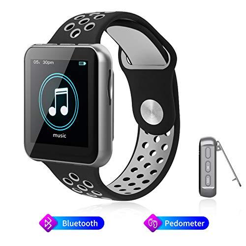 """AMZLIFE Bluetooth MP3-Player Armband Band mit Clip,1,54\"""" TFT Bildschirm,Mini Sport Musik Player/Schrittzähler/Radio/Vocie-Recorder/E-Book/integrierte 16 GB bis zu 128 GB."""