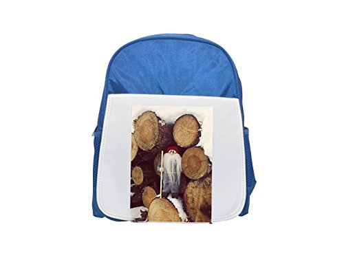 A gnome with long beard and logs printed kid s blue backpack 3cd1a07cb3e09